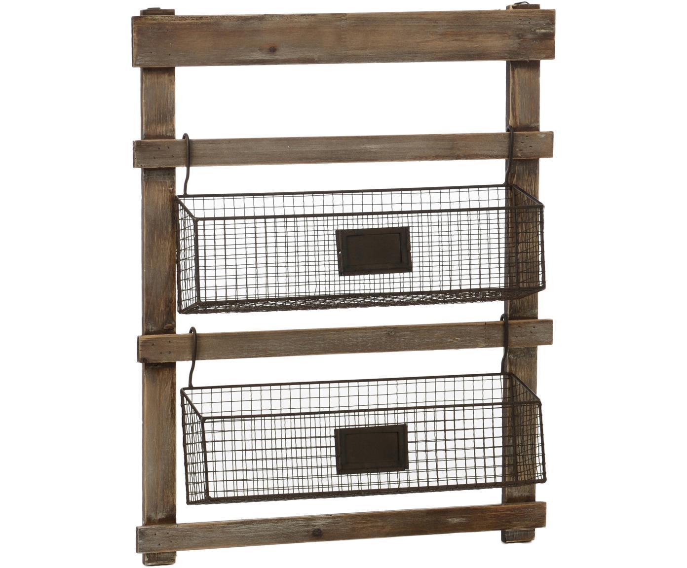 Estantería Mat, Estructura: madera, Marrón, negro, An 46 x Al 60 cm