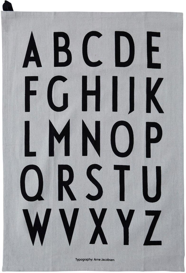 Canovaccio grigio Classic 2 pz, Cotone, Grigio, nero, Larg. 40 x Lung. 60 cm