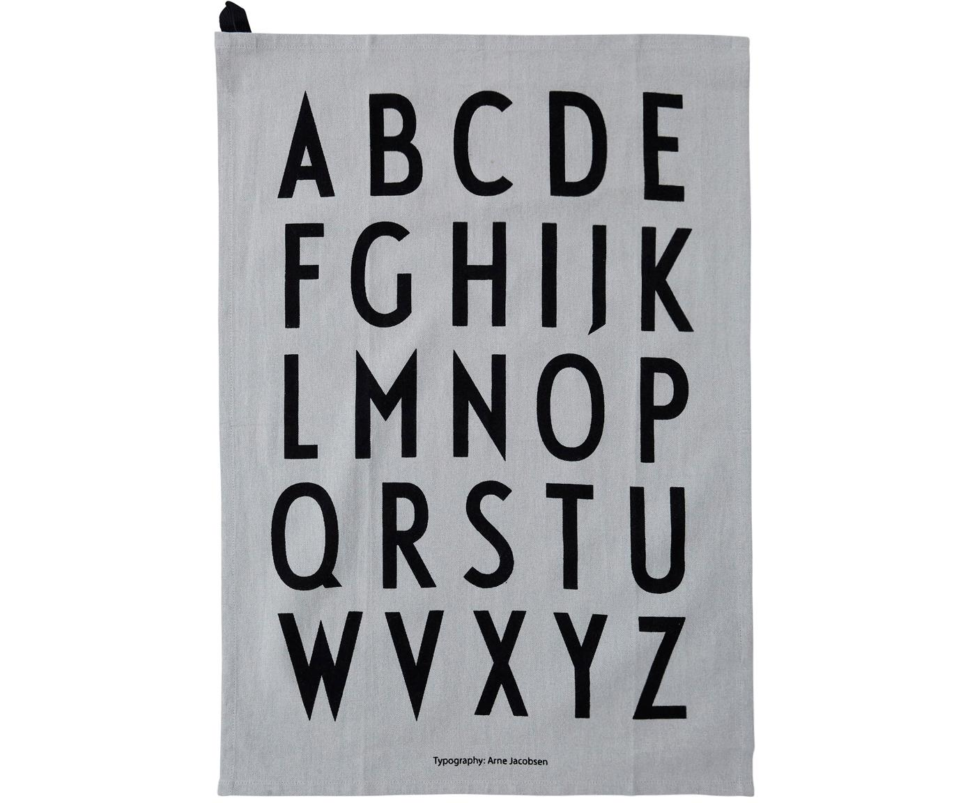 Canovaccio in grigio Classic 2 pz, Cotone, Grigio, nero, Larg. 40 x Lung. 60 cm