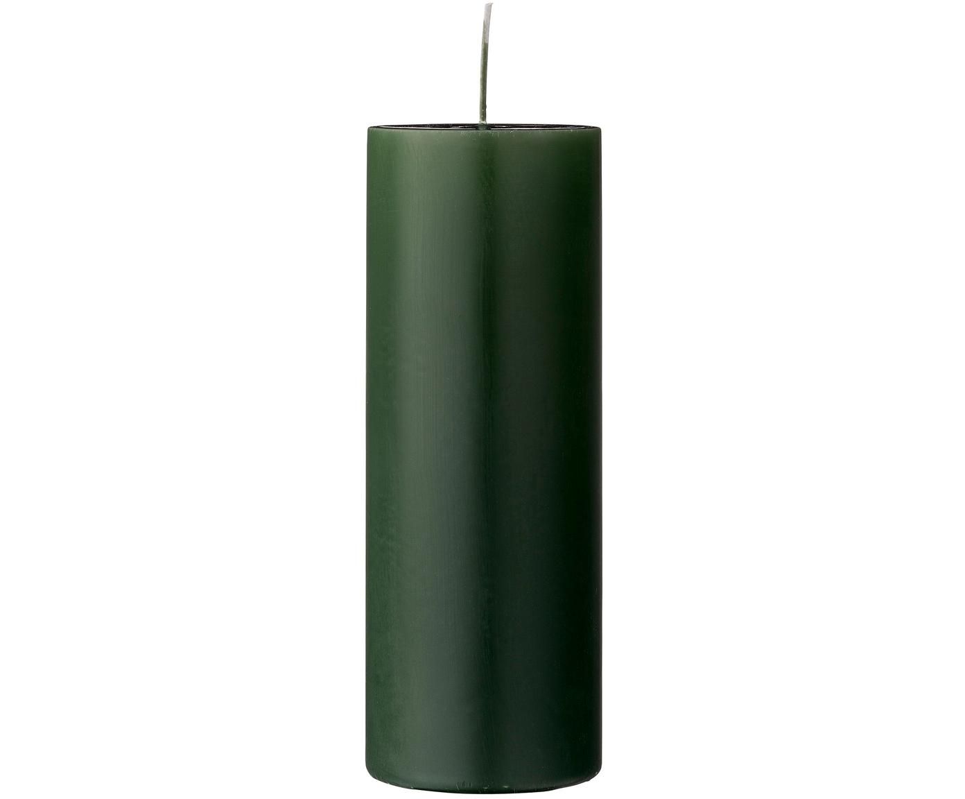 Vela pilar Lulu, Cera, Verde profundo, Ø 7 x Al 20 cm
