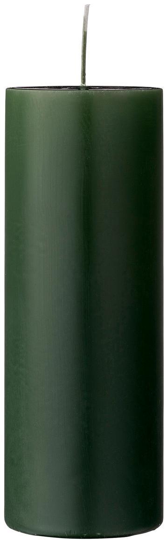 Stumpenkerze Lulu, Wachs, Waldgrün, Ø 7 x H 20 cm