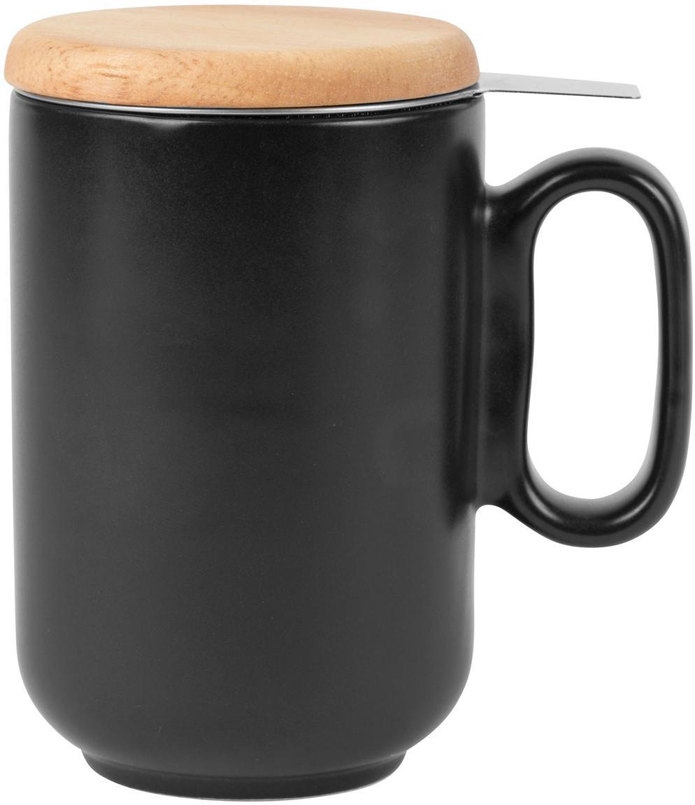 Taza con filtro para té Baltika, Negro, Ø 9 x Al 14 cm