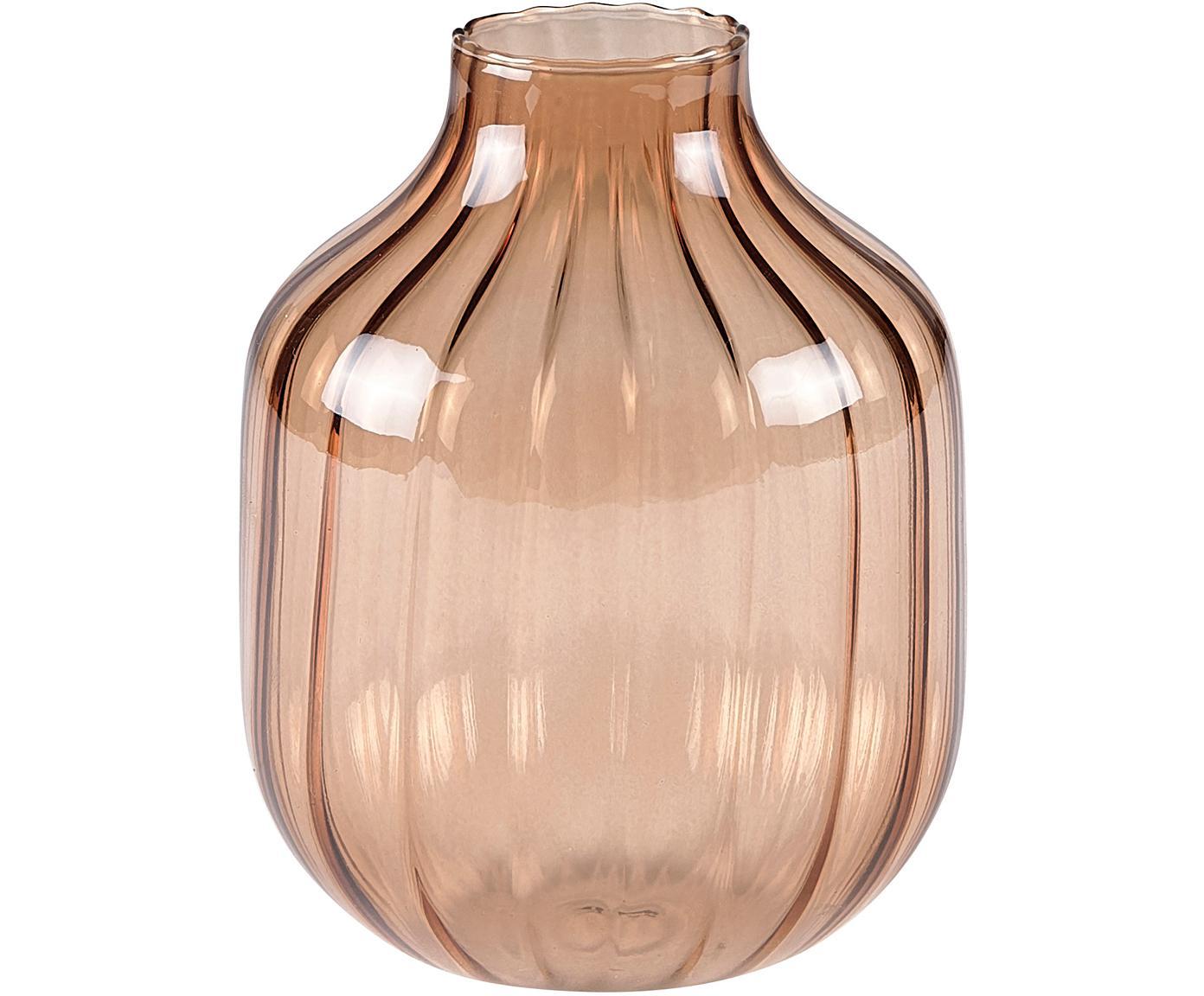 Vaso in vetro Cameron, Vetro, Marrone, Ø 10 x Alt. 13 cm