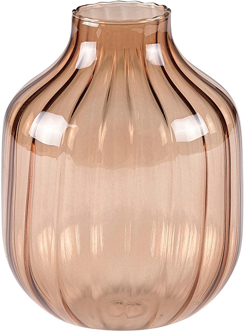 Vidrio-jarrón Cameron, Vidrio, Marrón, Ø 10 x Al 13 cm