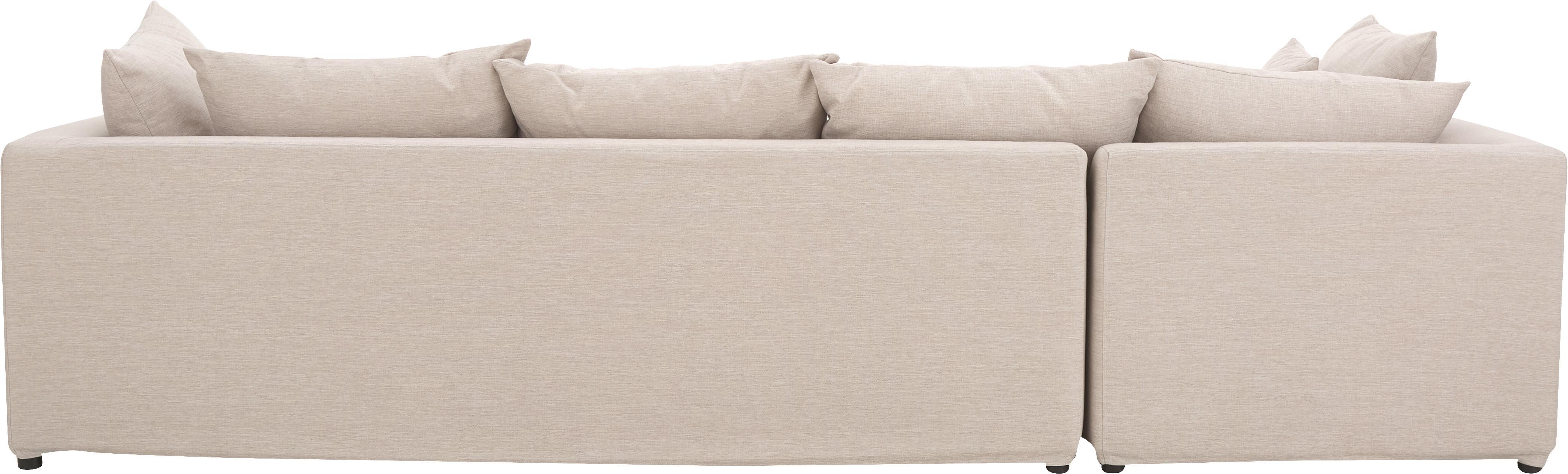 Ecksofa Zach, Bezug: Polypropylen Der hochwert, Füße: Kunststoff, Webstoff Beige, B 300 x T 213 cm