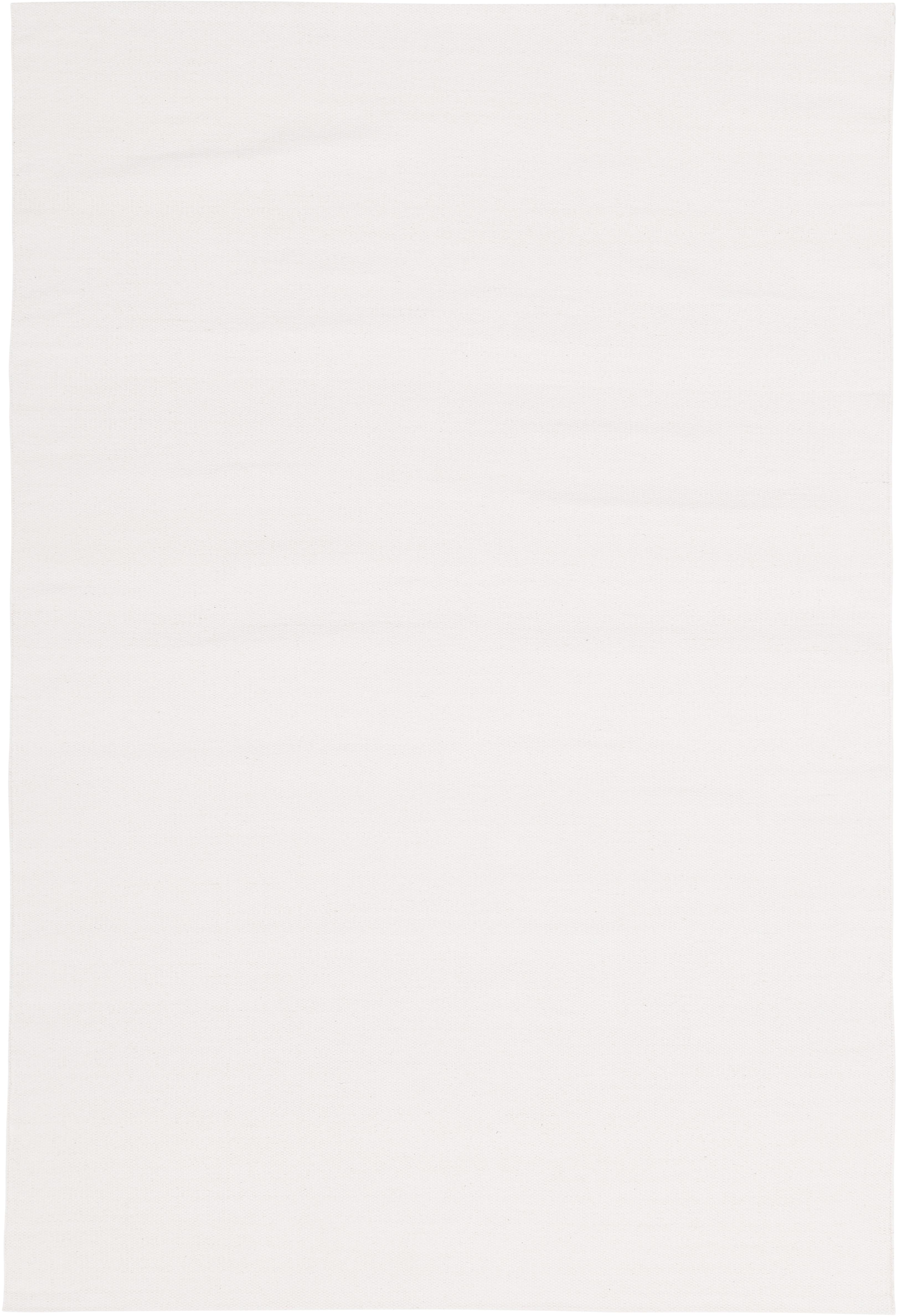 Tappeto in cotone tessuto a mano Agneta, Cotone, Bianco crema, Larg. 200 x Lung. 300 cm (taglia L)