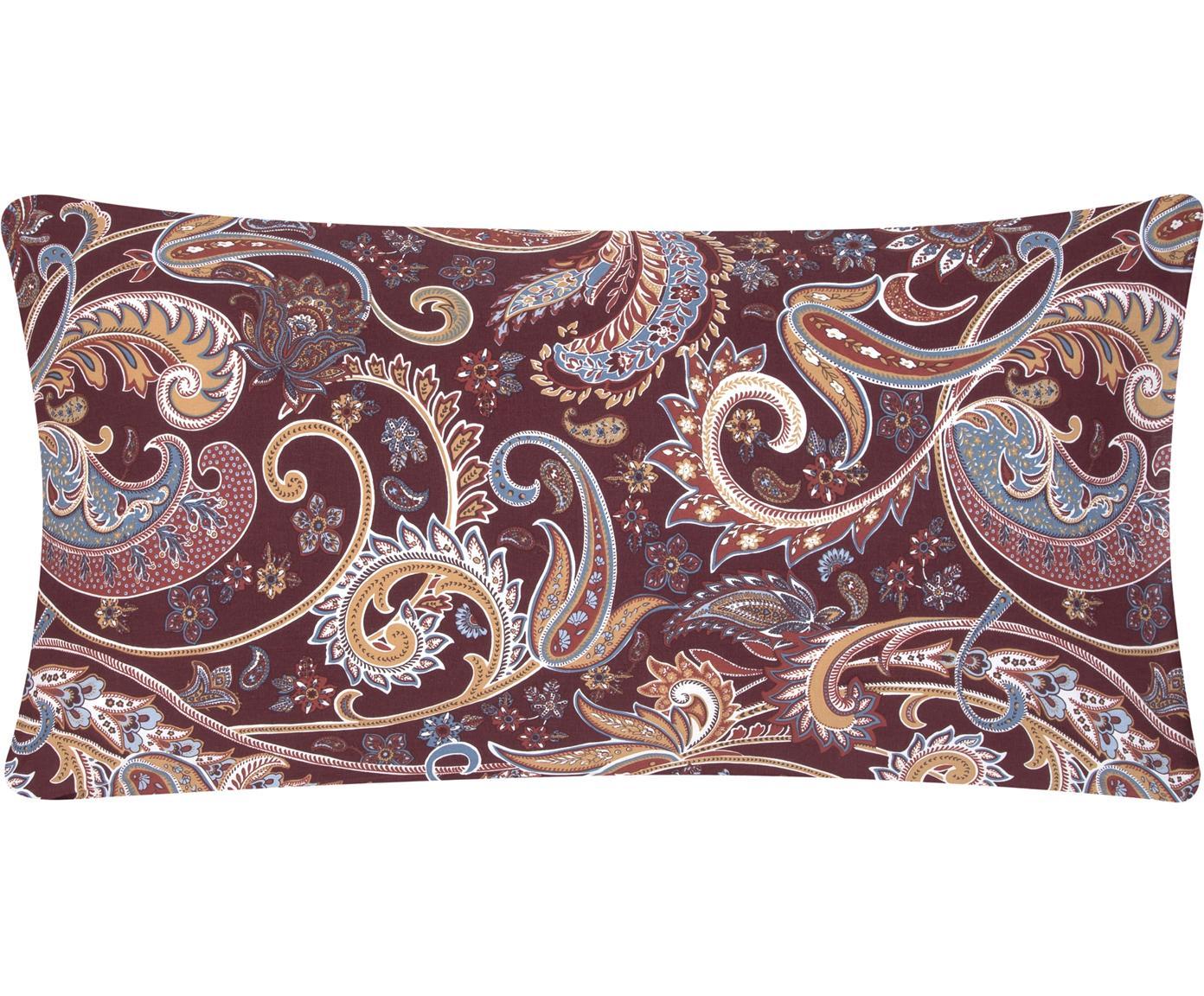 Poszewka na poduszkę z bawełny renforcé Liana, 2 szt., Tapicerka: ciemny fioletowy nogi: czarny, matowy, S 40 x D 80 cm