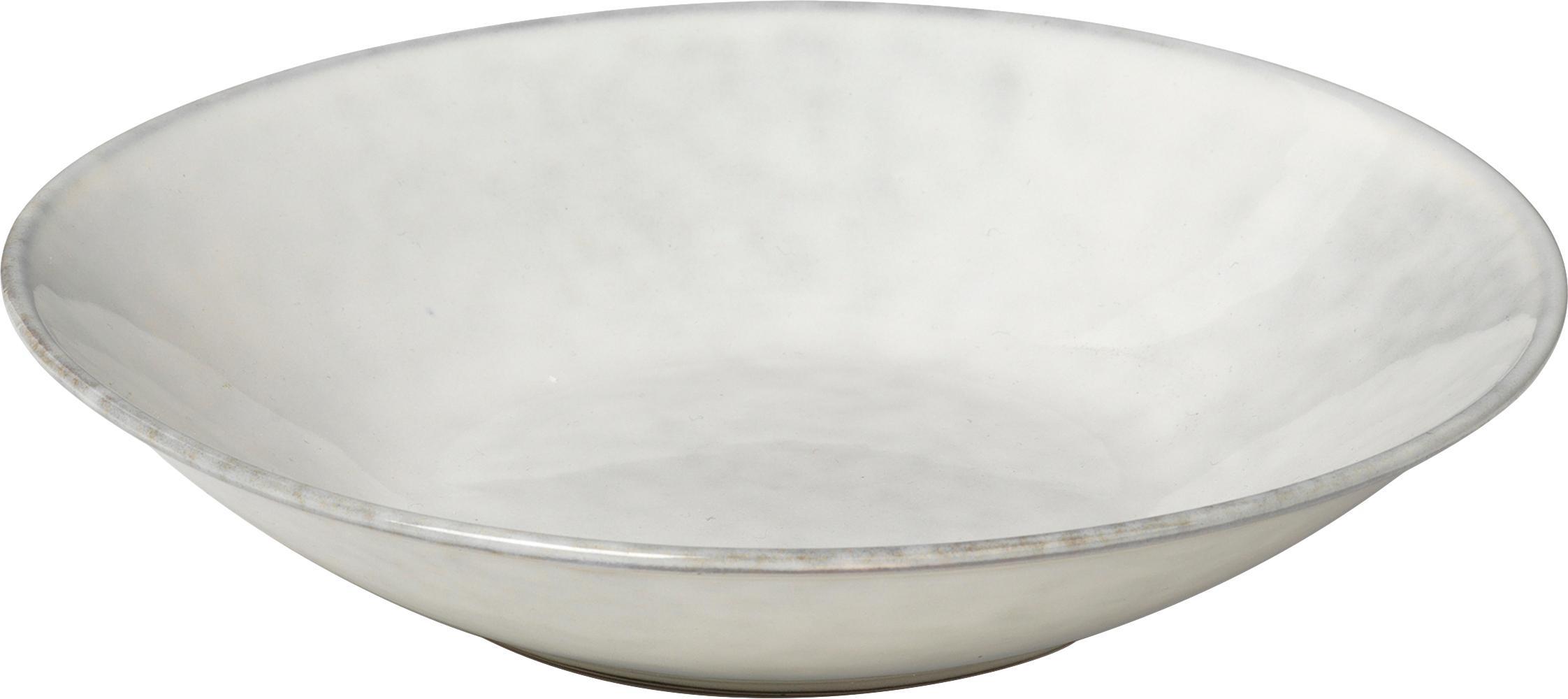 Handgemaakte soepborden Nordic Sand, 4 stuks, Keramiek, Zandkleurig, Ø 22 x H 5 cm