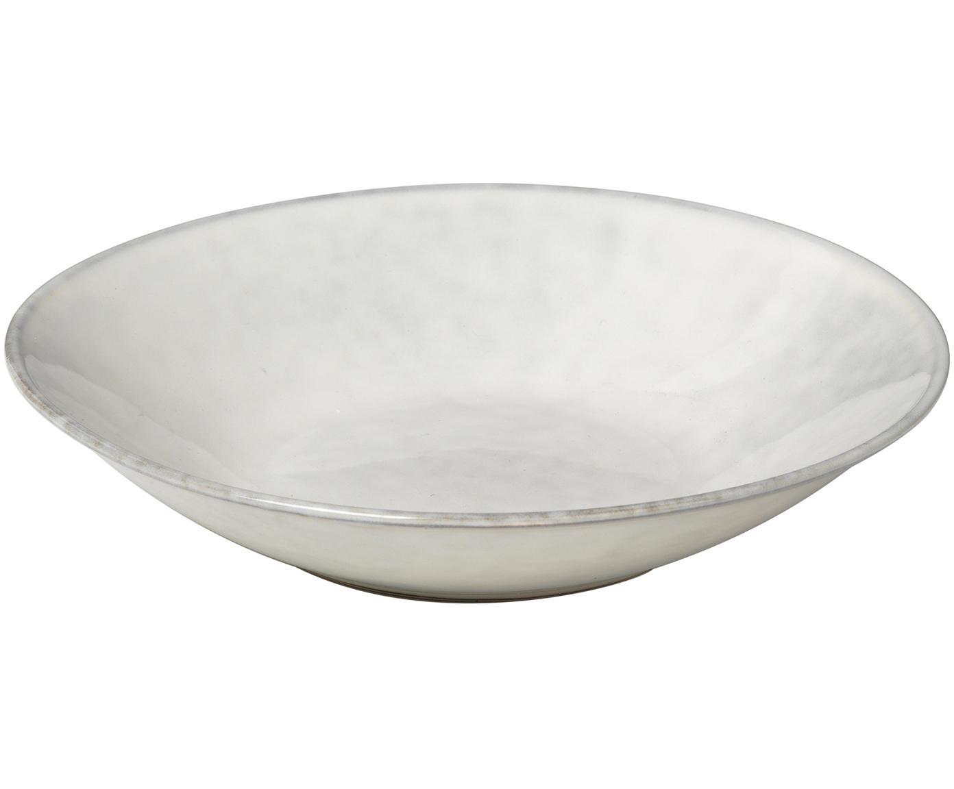 Handgemachte Suppenteller Nordic Sand, 4 Stück, Steingut, Sand, Ø 22 x H 5 cm