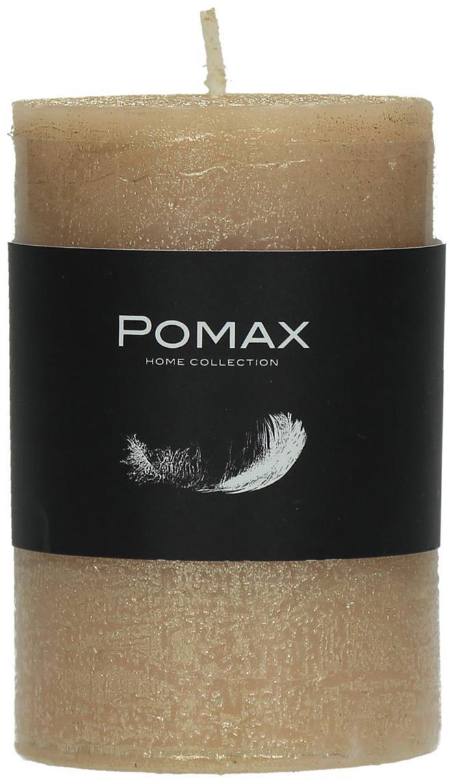Vela pilar Arda, 80% parafina, 20% cera de palma, Champán, Ø 5 x Al 8 cm
