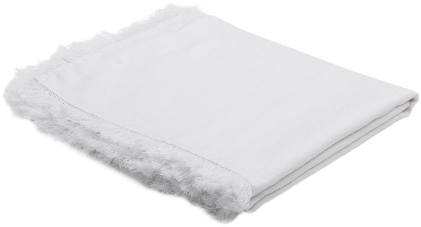 Mantel de lino Lucka, Lino, Blanco, De 6 a 8 comensales (An 150 x L 200 cm)