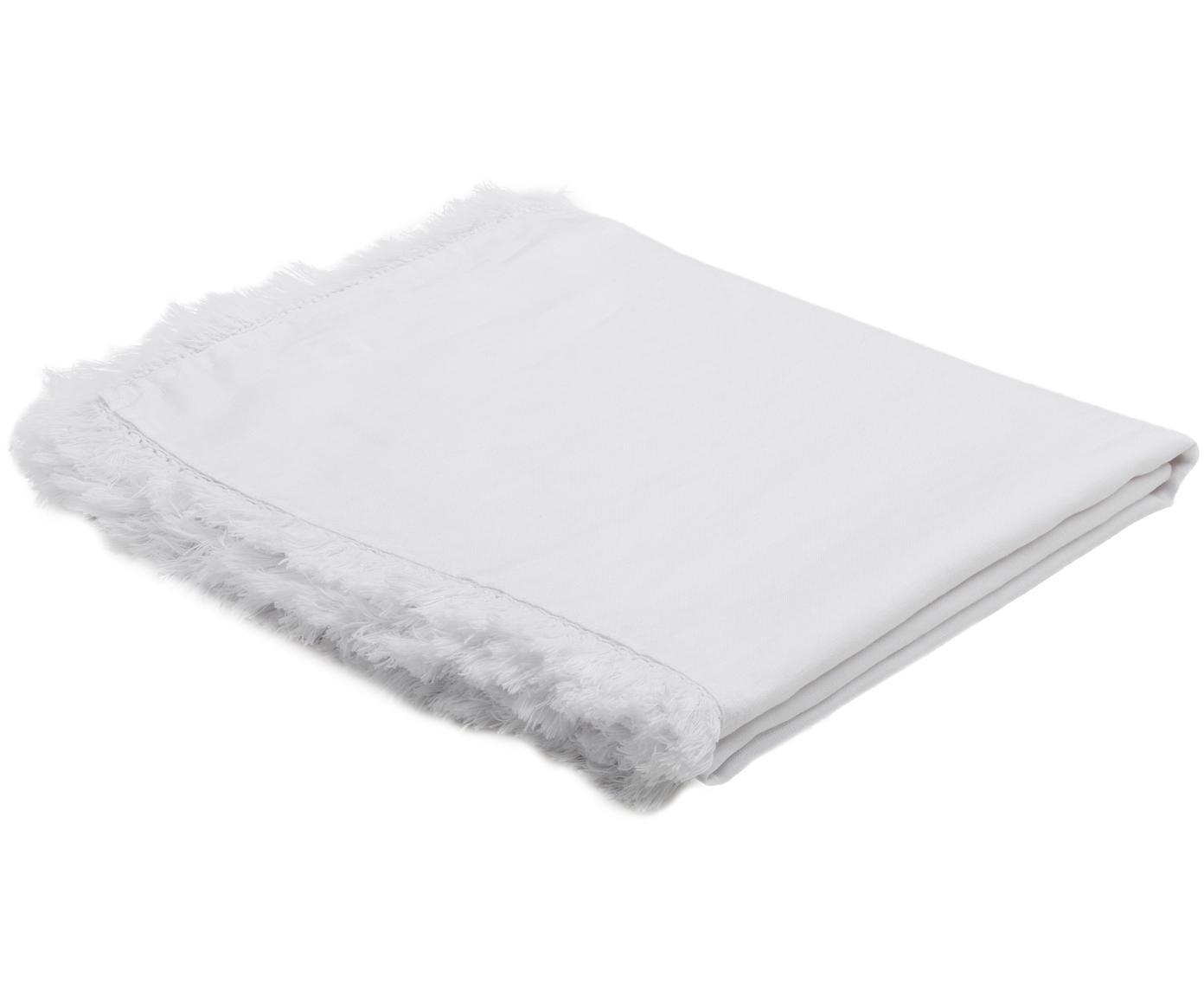 Linnen tafelkleed Lucka, Linnen, Wit, Voor 6 - 8 personen (B 150 x L 200 cm)