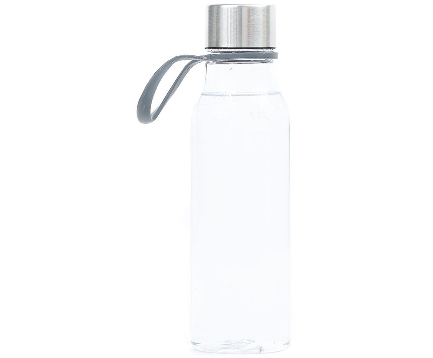 Kleine to go drinkfles Lean, Fles: Tritan (kunststof), BPA-v, Transparant, staalkleurig, 570 ml