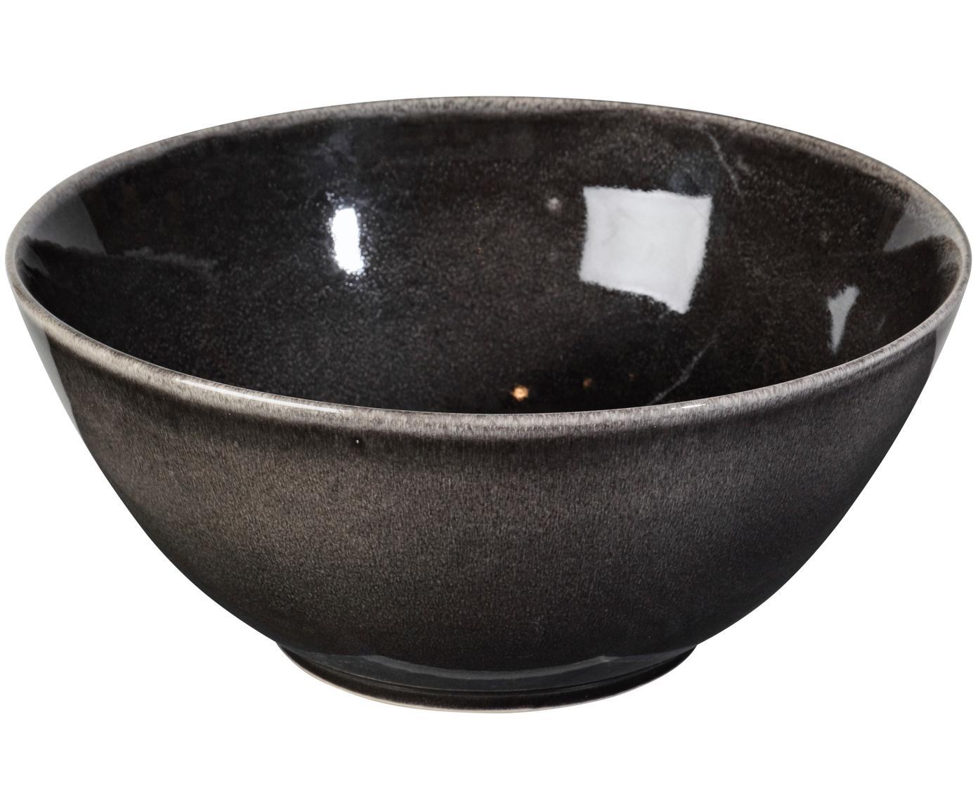 Handgemachte Servierschüssel Nordic Coal Ø 25 cm aus Steingut, Steingut, Bräunlich, Ø 25 x H 11 cm