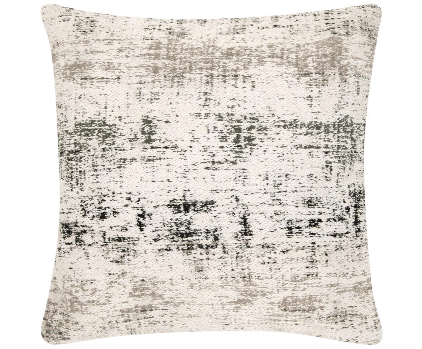 Poszewka na poduszkę Corinne, Kremowy, czarny, szary, S 45 x D 45 cm