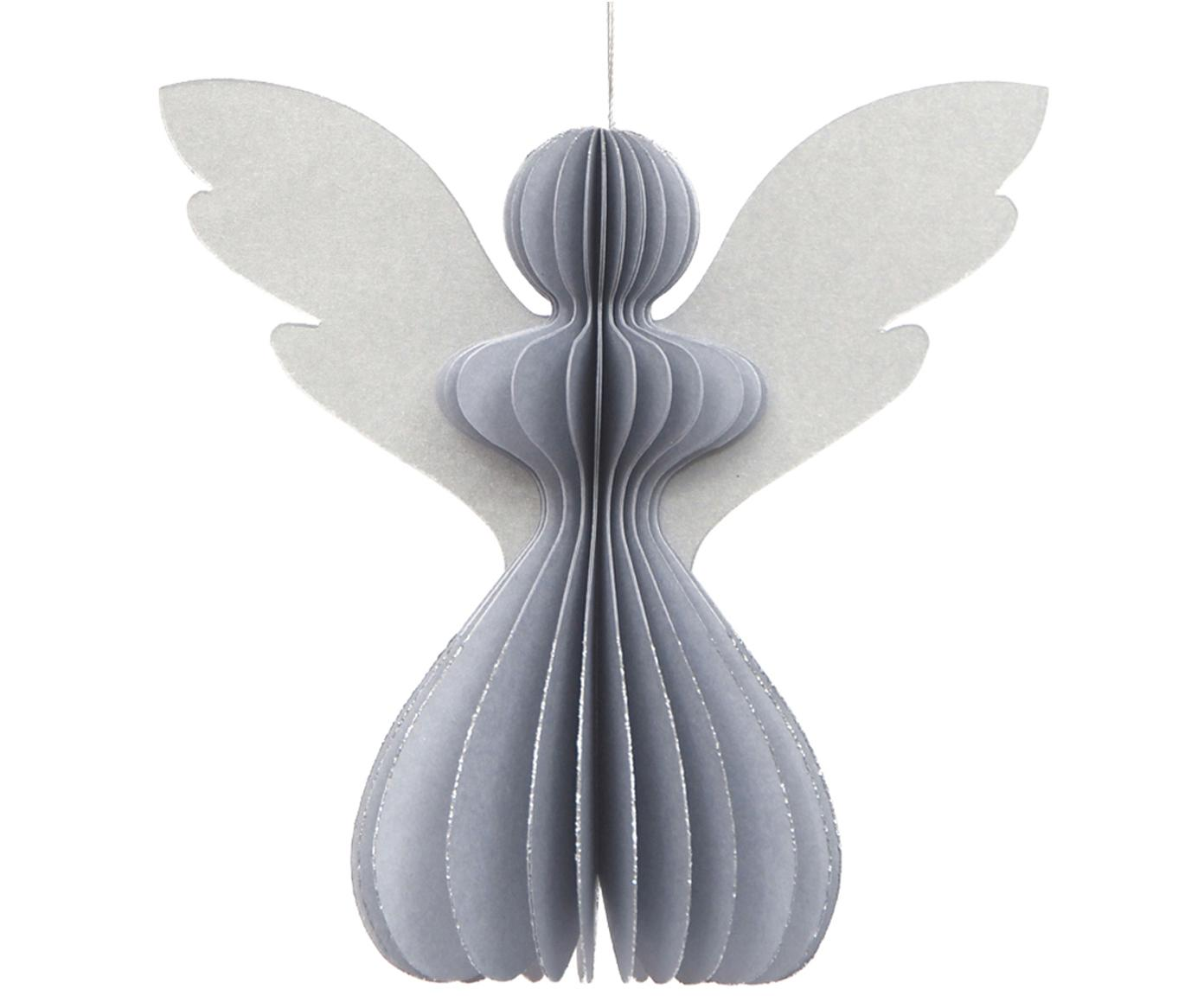 Decoratieve hangers Haalija, 2 stuks, Papier, Zilverkleurig, Ø 6 x H 13 cm