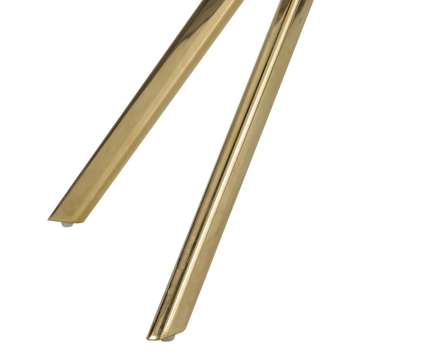 Silla giratoria con reposabrazos de terciopelo Lola, Tapizado: terciopelo (100%poliéste, Patas: metal galvanizado, Terciopelo malva, patas oro, An 52 x F 57 cm