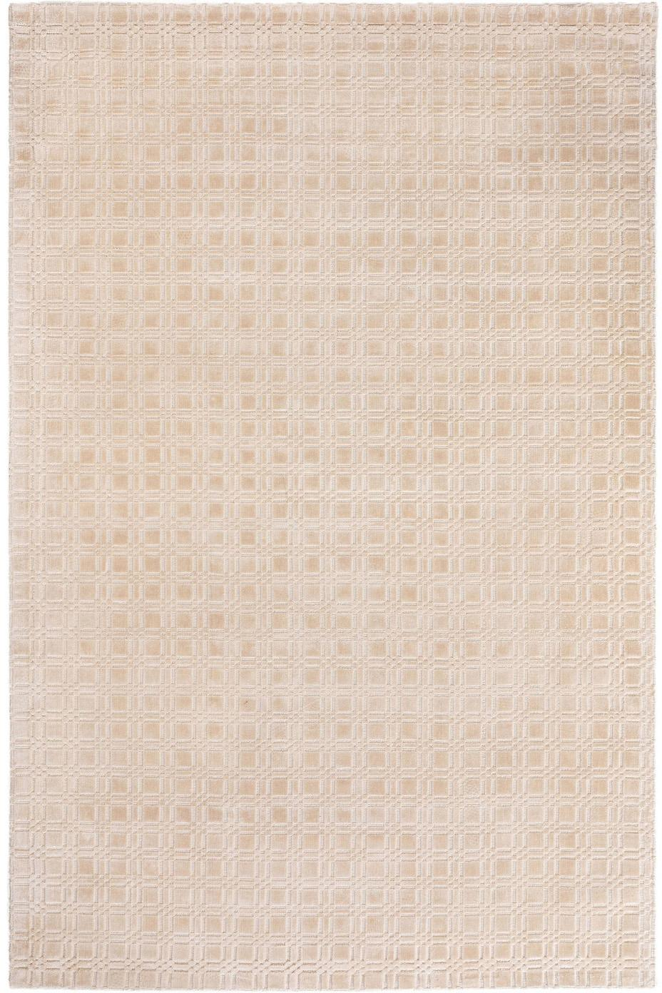 Tappeto in viscosa tessuto a mano Nelson, Viscosa, Crema, Larg. 200 x Lung. 300 cm (taglia L)