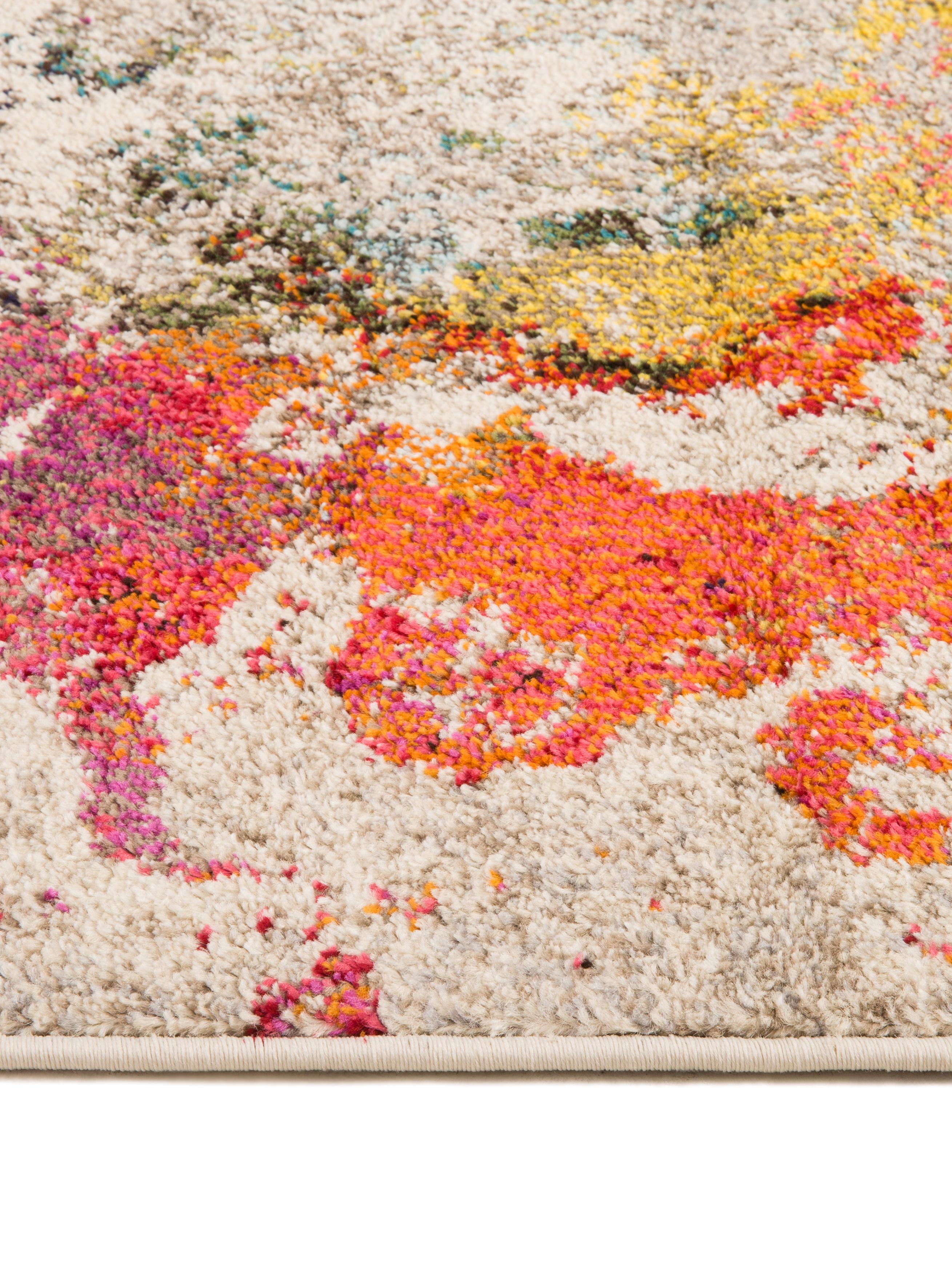Design vloerkleed Celestial in kleur, Bovenzijde: 100% polypropyleen, Onderzijde: jute, Multicolour, 160 x 220 cm