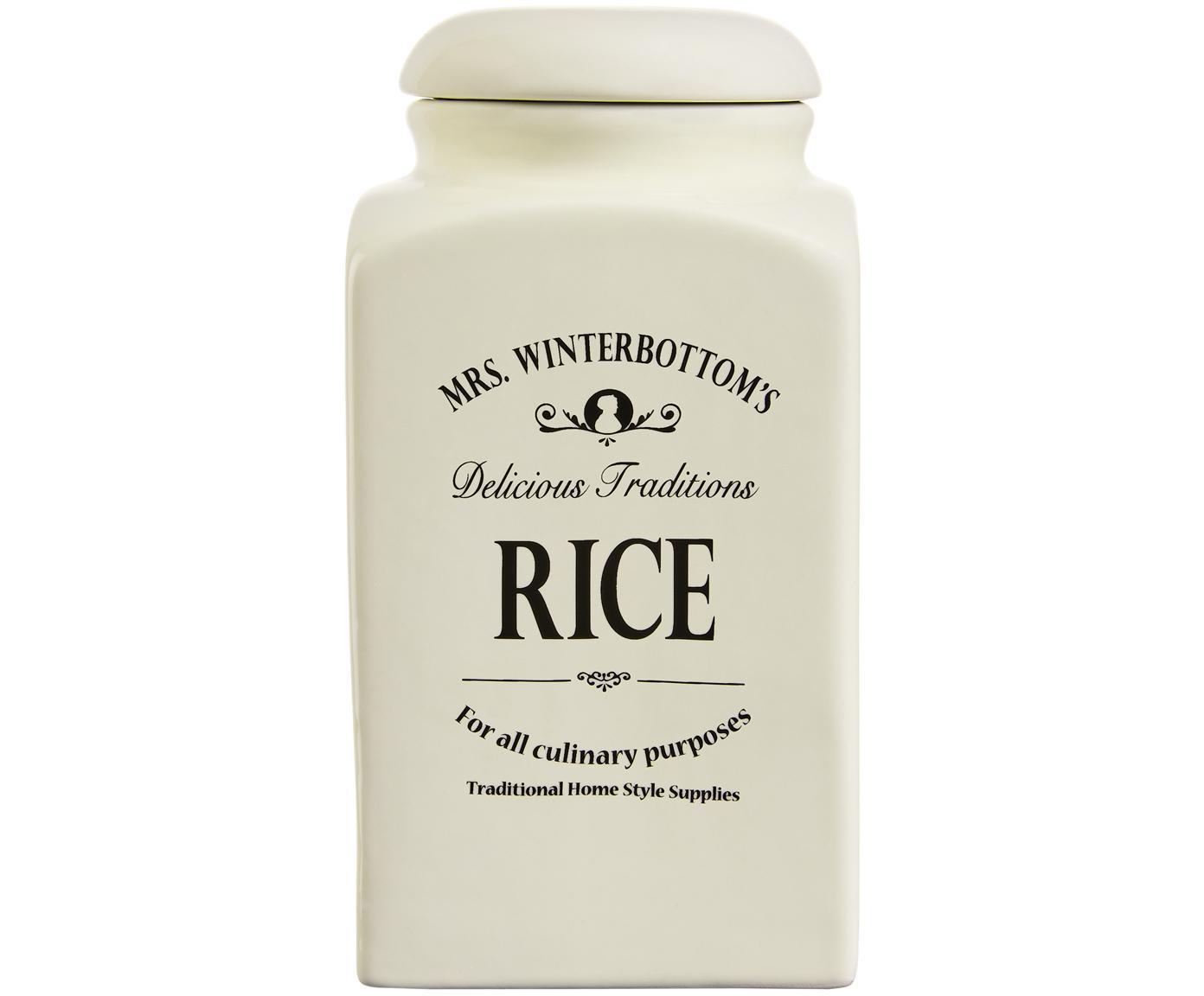 Contenitore Mrs Winterbottoms Rice, Terracotta, Crema, nero, Ø 11 x Alt. 21 cm