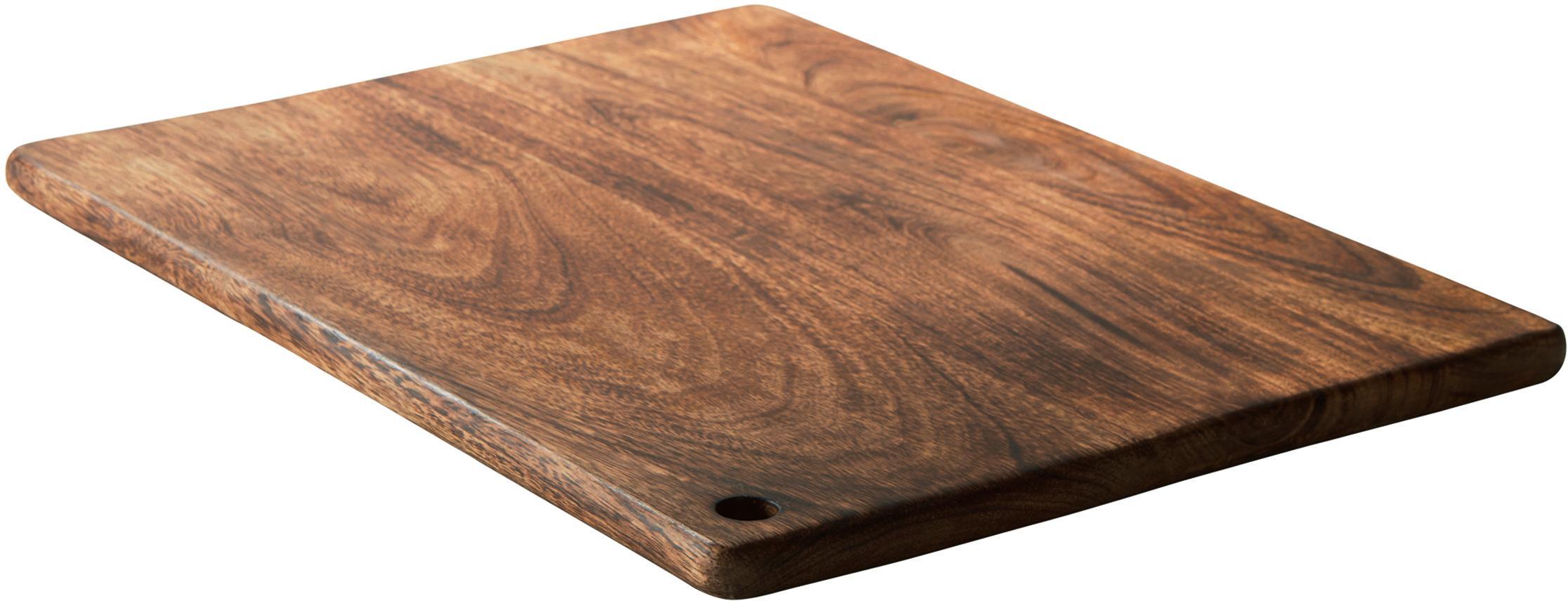Tabla de cortar de madera Colton, Madera de mango, Madera de mango, An 40 x F 30 cm