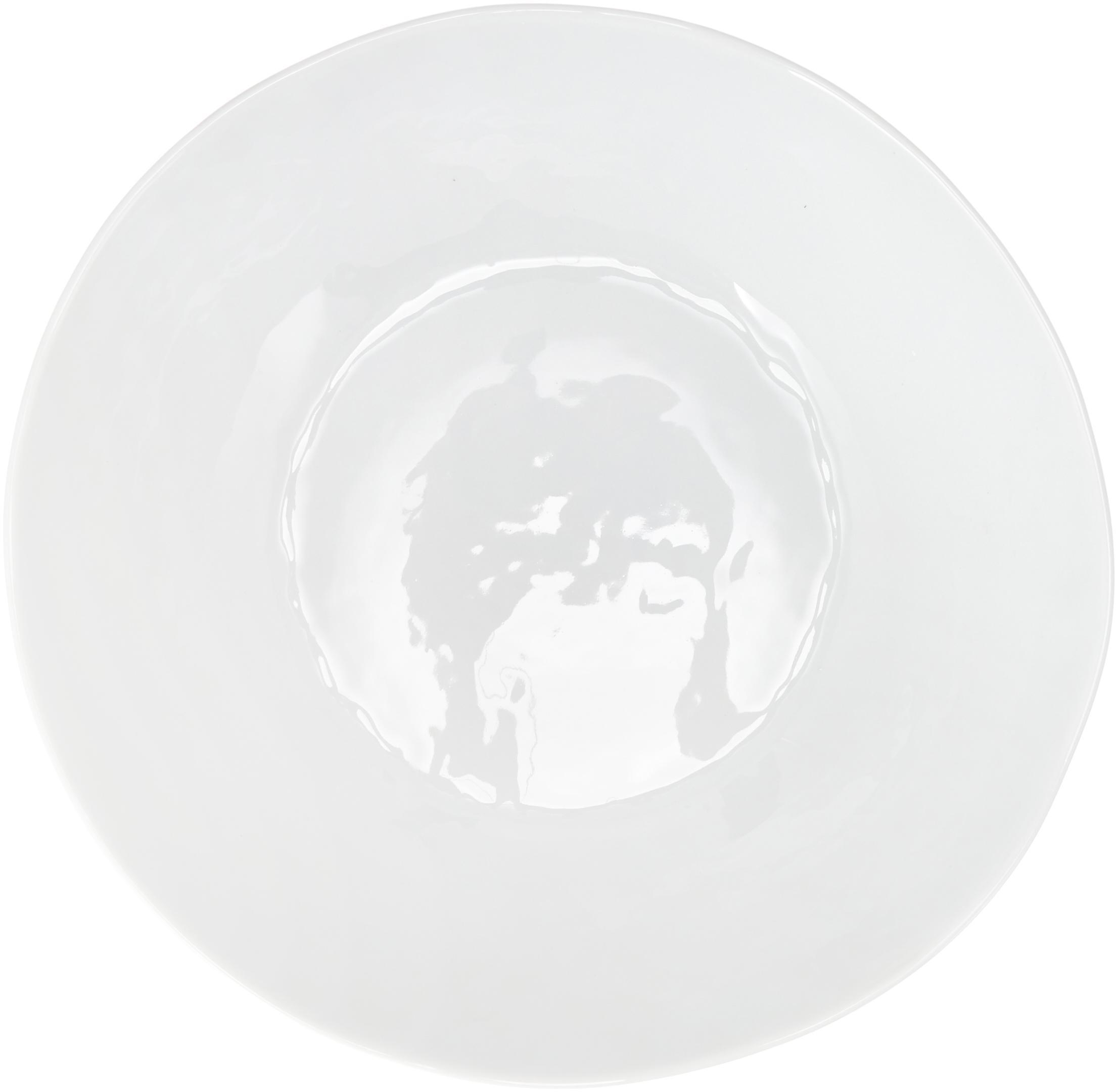 Ovale Schüssel Porcelino mit unebener Oberfläche, Porzellan, gewollt ungleichmässig, Weiss, B 33 x T 37 cm