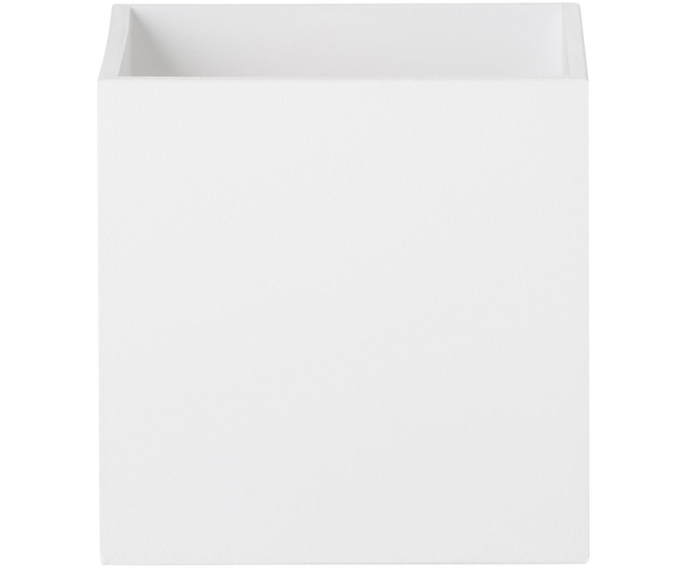 Wandleuchte Quad, Aluminium, pulverbeschichtet, Weiss, 10 x 10 cm