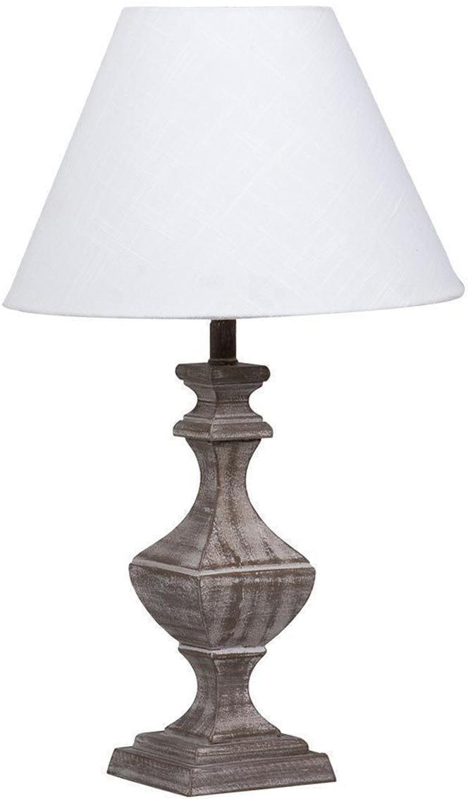 Lámpara de mesa Manuel, Base de la lámpara: fibras de densidad media , Pantalla: lino, Beige, gris, Ø 13 x Al 43 cm