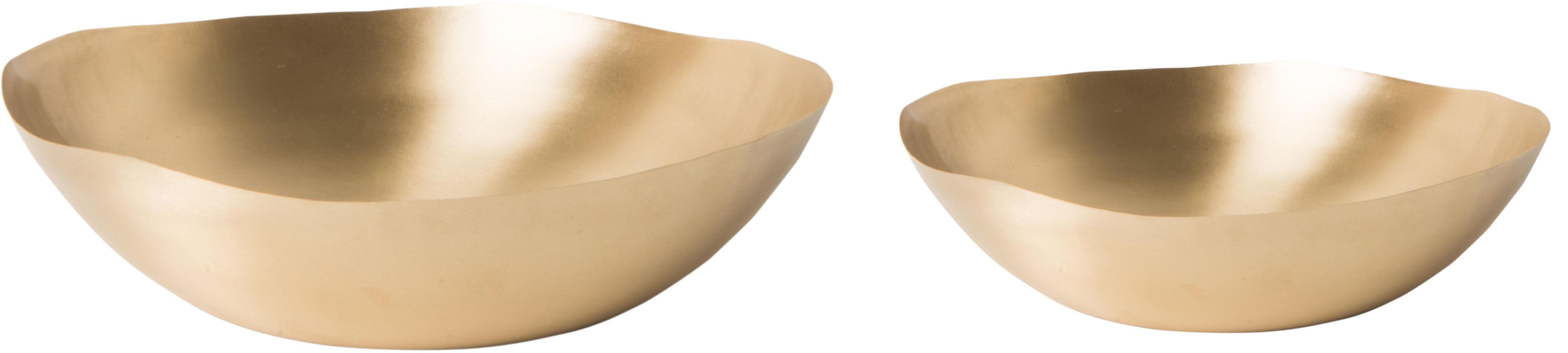 Handgemachtes Schüssel-Set Nature, 2 Stück, Messing, weich und flexibel, Messing, Set mit verschiedenen Grössen