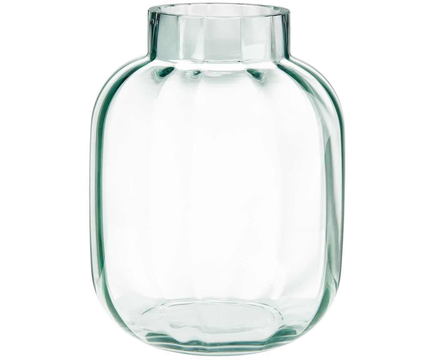Vaso in vetro Betty, Vetro, Verde chiaro trasparente, Ø 18 x Alt. 22 cm