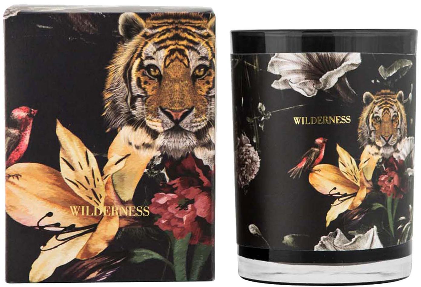 Duftkerze Wilderness (Ananas & Passionsfrucht), Behälter: Glas, Schwarz, Ø 8 x H 10 cm