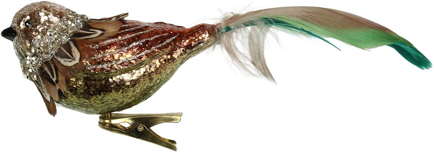 Adorno navideño Bird, Multicolor, An 19 x Al 8 cm