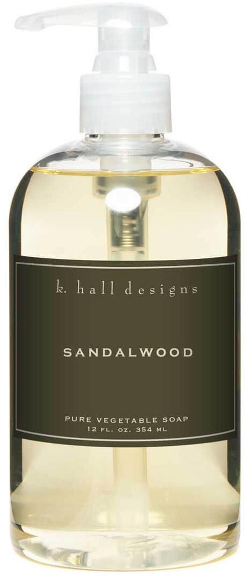 Vloeibare handzeep Sandalwood (sandelhout en muskus), Transparant, Ø 7 x H 16 cm