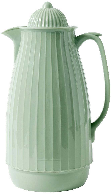Caraffa sottovuoto Juggie, Esterno: materiale sintetico, Interno: vetro, Verde pastello, 1 l