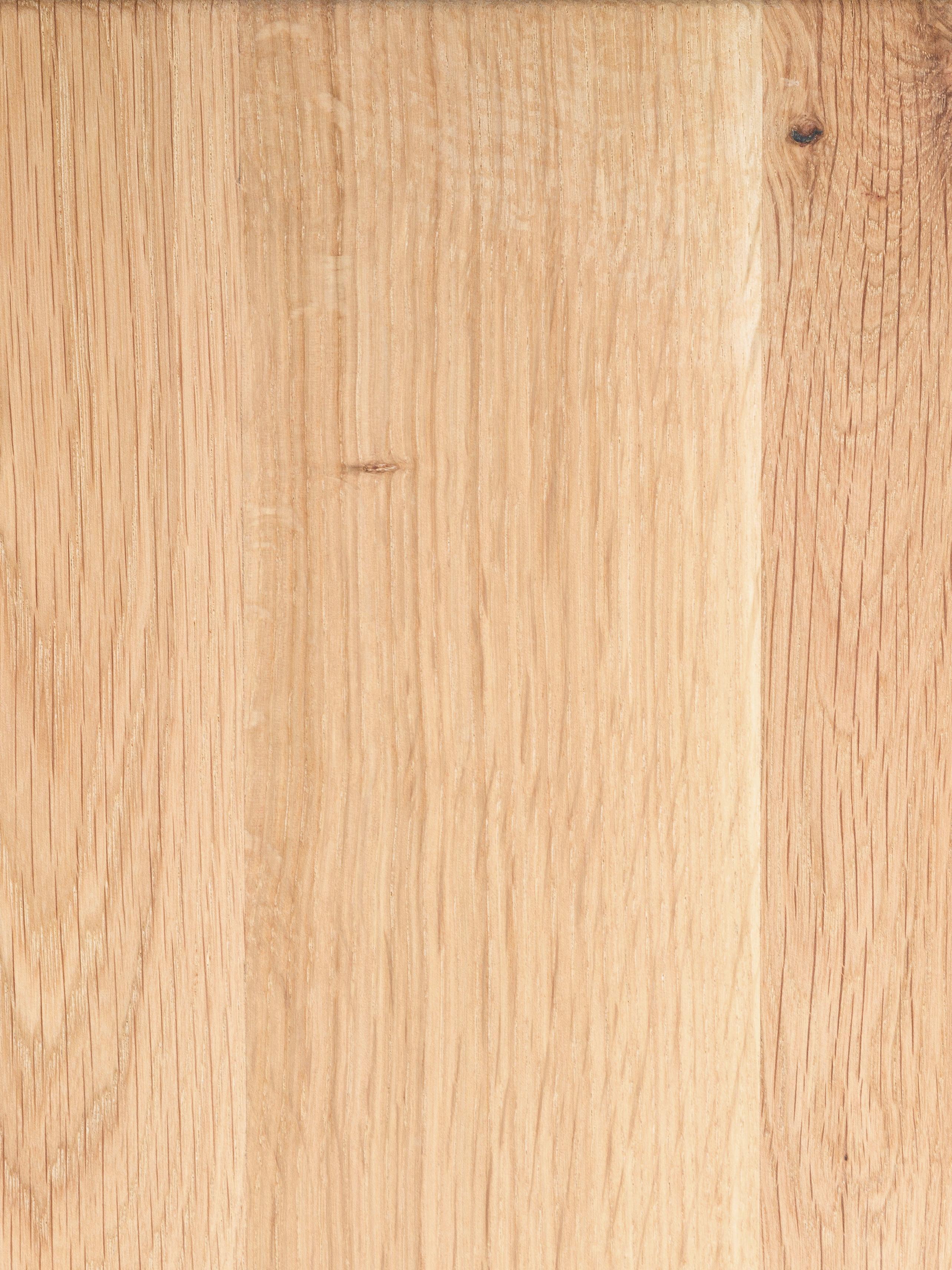 Sitzbank Oliver aus Eichenholz, Sitzfläche: Europäische Wildeiche, ma, Beine: Matt lackierter Stahl, Sitzfläche: WildeicheBeine: Weiss, 180 x 45 cm