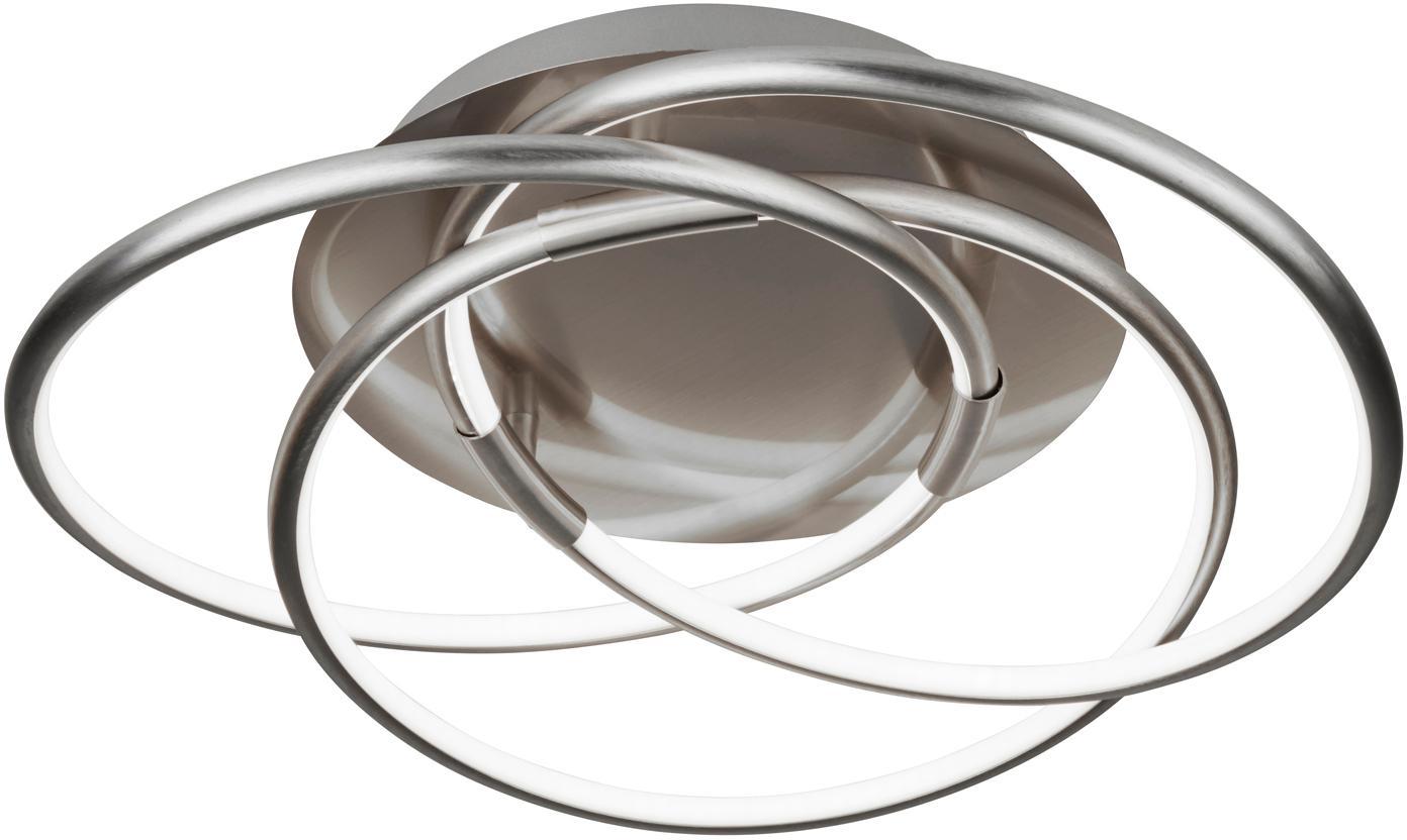 LED Deckenleuchte Magic, Aluminium, gebürstet, Aluminium, Ø 48 x H 22 cm