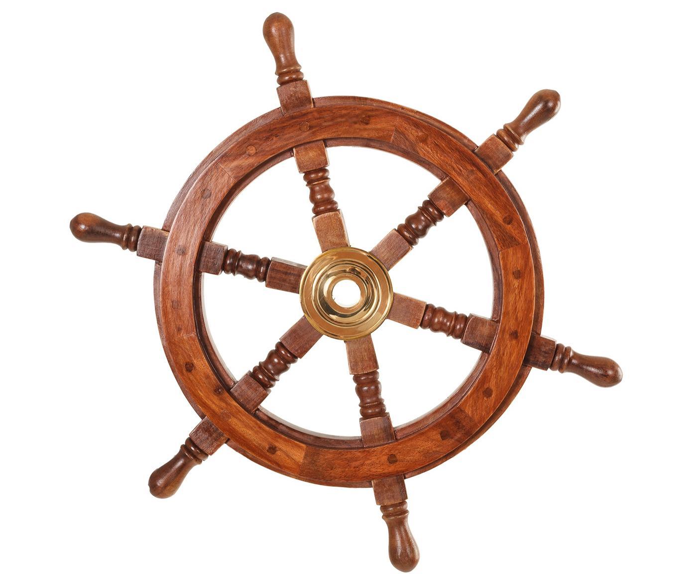 Pieza decorativa Sailor, Marrón, Ø 45 cm
