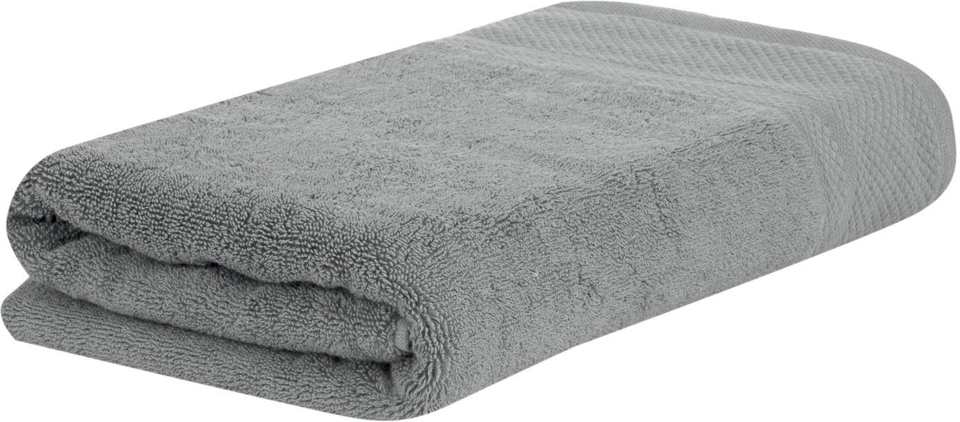Asciugamano con bordo decorativo Premium, Grigio scuro, Asciugamano per ospiti Larg. 30 x Lung. 30 cm
