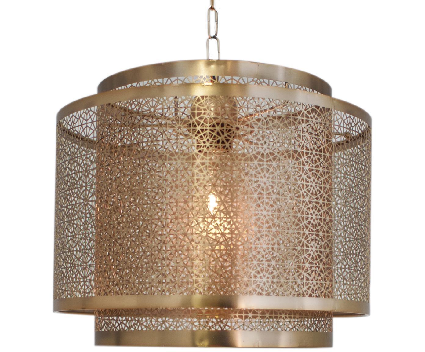 Lámpara de techo Hermine, estilo boho, Latón, Latón mate, Ø 35 x Al 28 cm