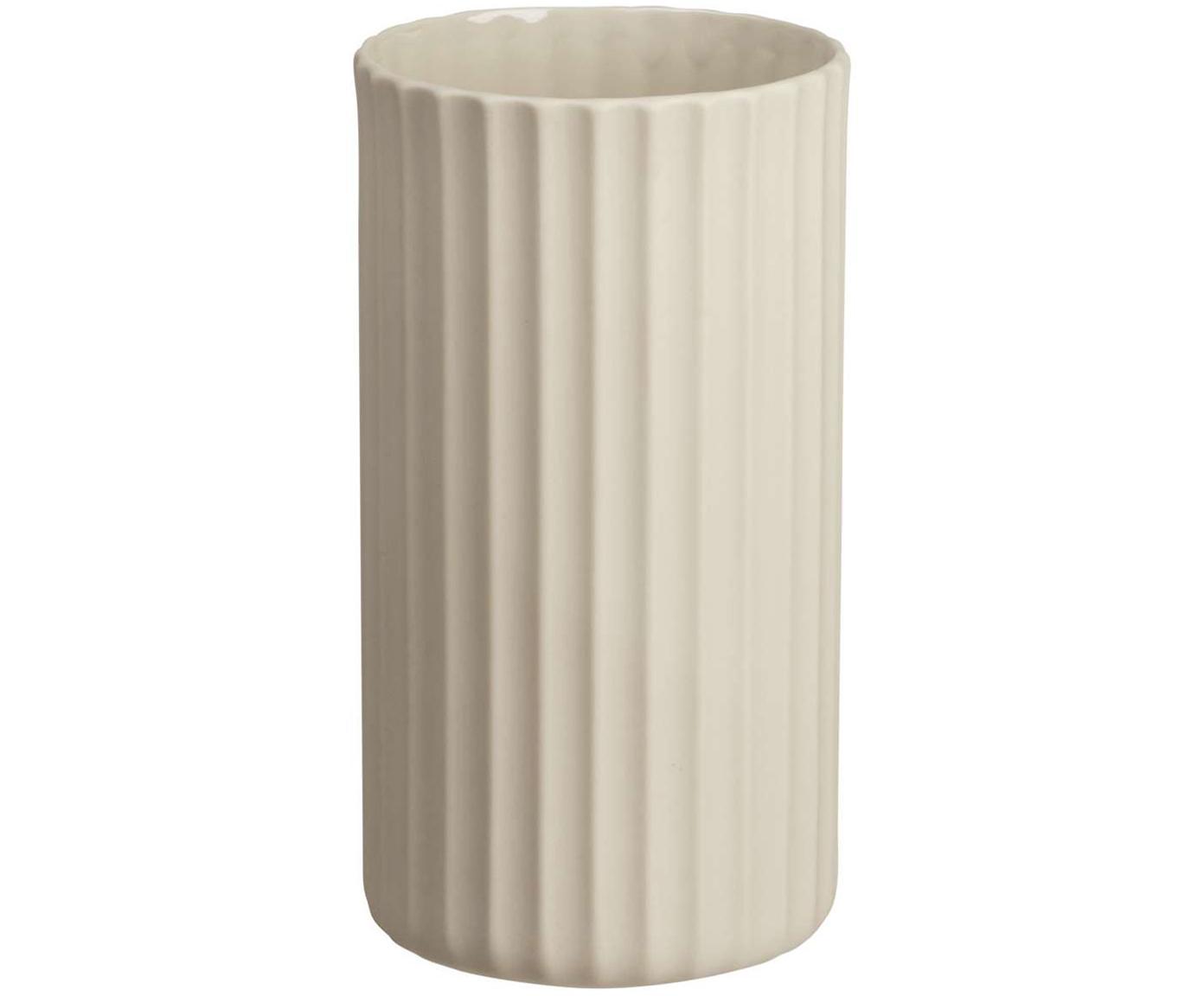 Jarrón artesanal de porcelana Yoko, Porcelana, Beige, Ø 9 x Al 16 cm