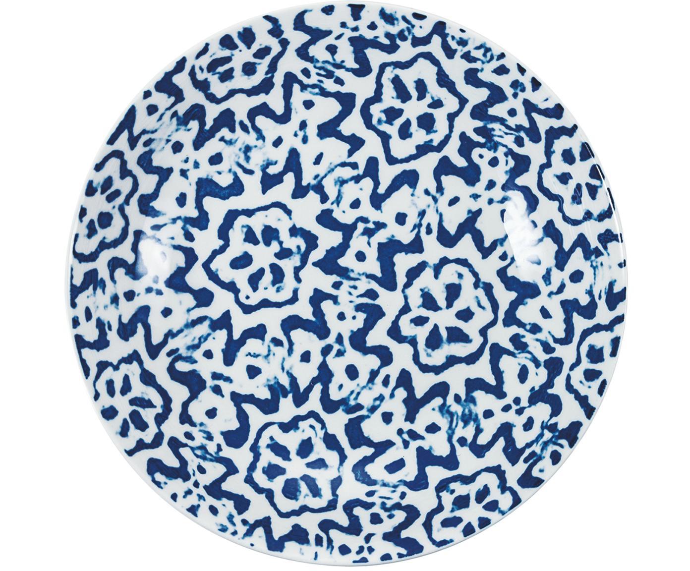 Komplet naczyń  Bodrum, 18 elem., Porcelana, Niebieski, biały, Różne rozmiary
