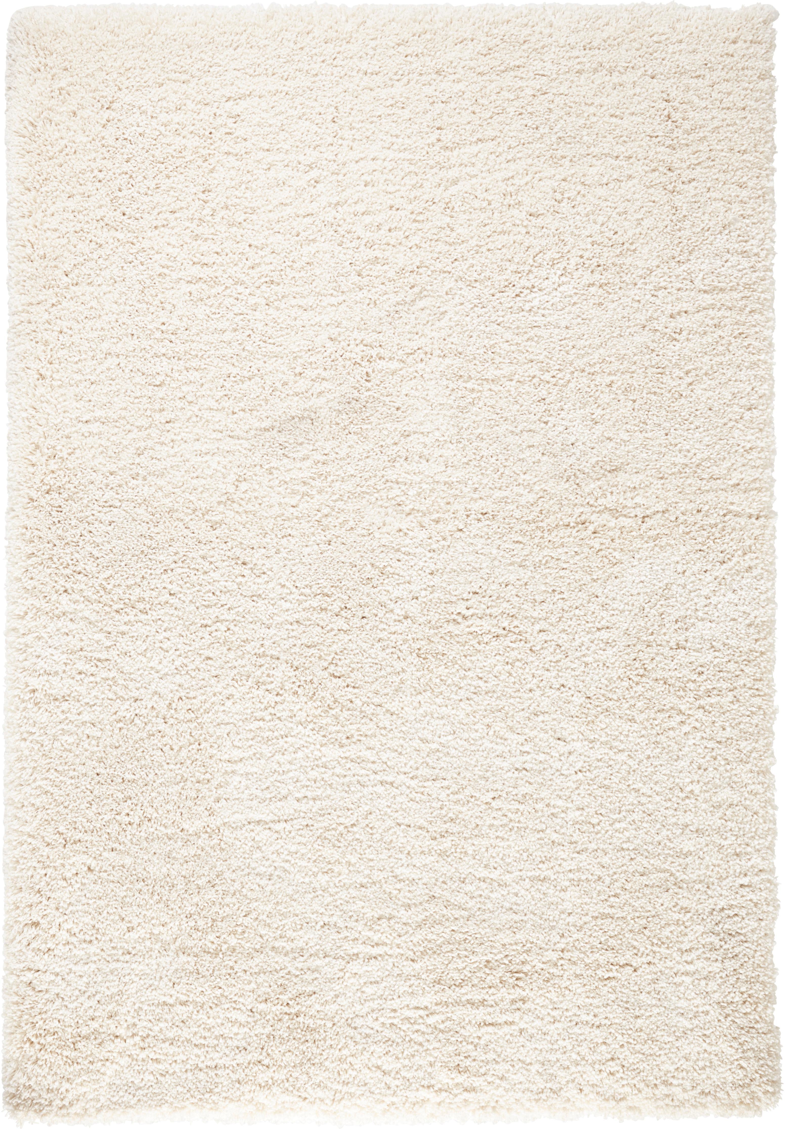 Alfombra de pelo largo Venice, Parte superior: polipropileno, Reverso: yute, Crema, An 120 x L 170 cm (Tamaño S)