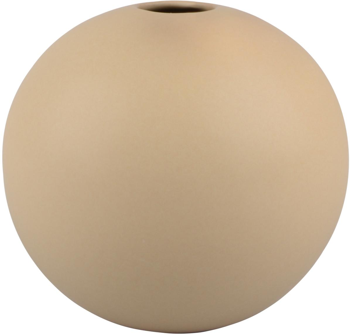 Bolvormige vaas Rita van keramiek, Keramiek, Beige, Ø 12 cm