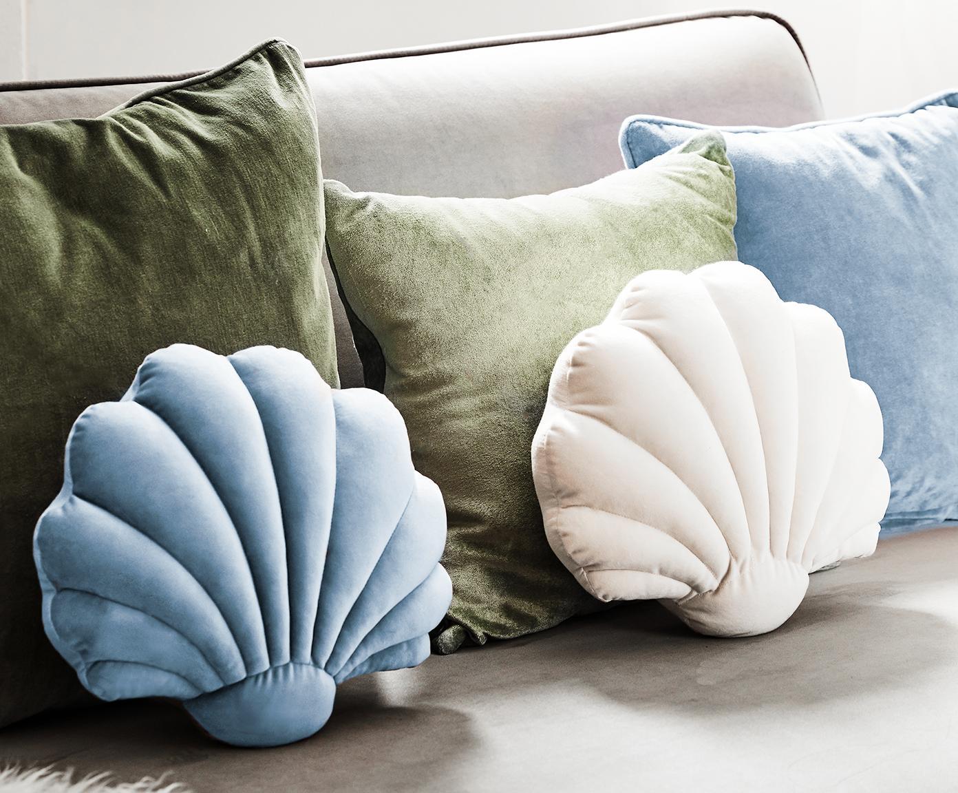 Poduszka Shell, Jasny niebieski, S 28 x D 30 cm