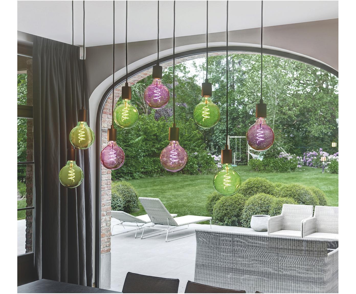 Veľká LED žiarovka Curved (E27 / 8 W), Zelená