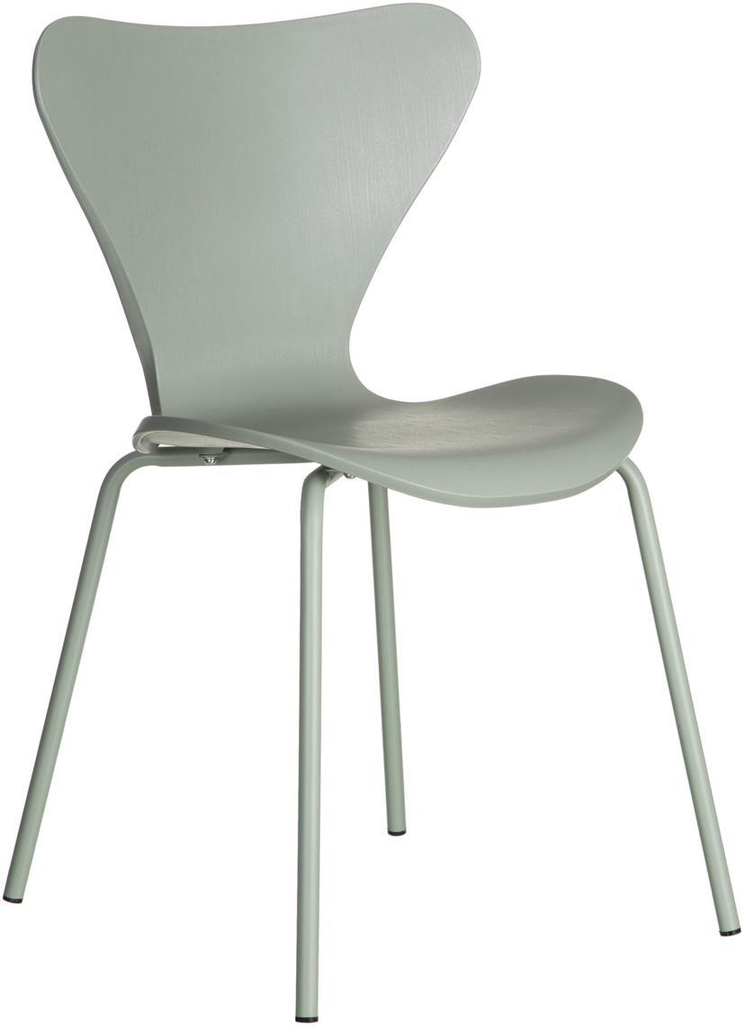 Krzesło z tworzywa sztucznego Pippi, 2 szt., Polipropylen, metal, Miętowy, S 50 x G 47 cm