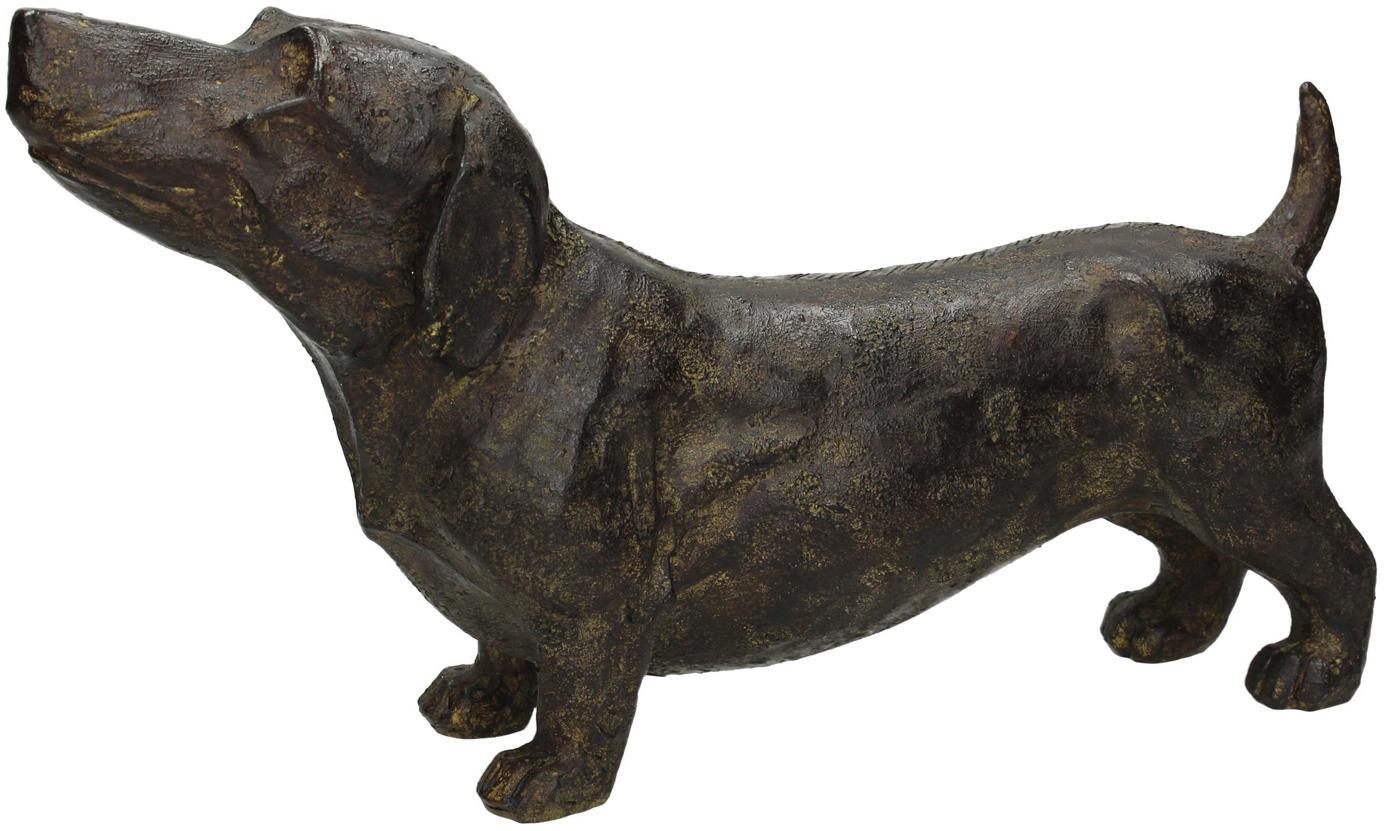 Figura decorativa Daggl, Poliresina, Marrón, An 31 x Al 17 cm