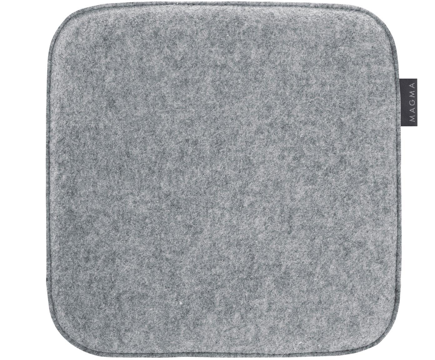 Nakładka na krzesło Avaro Square, 4 elem., Szary, S 35 x D 35 cm