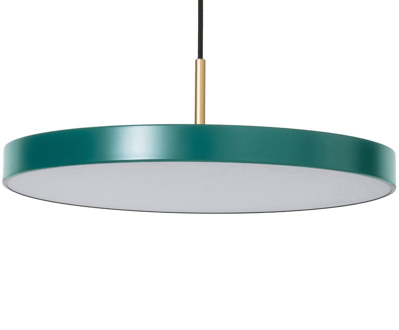 Lámpara de techo LED de diseño Asteria, Pantalla: aluminio pintado, Fijación: acero pintado, Verde oscuro, Ø 43 x Al 15 cm