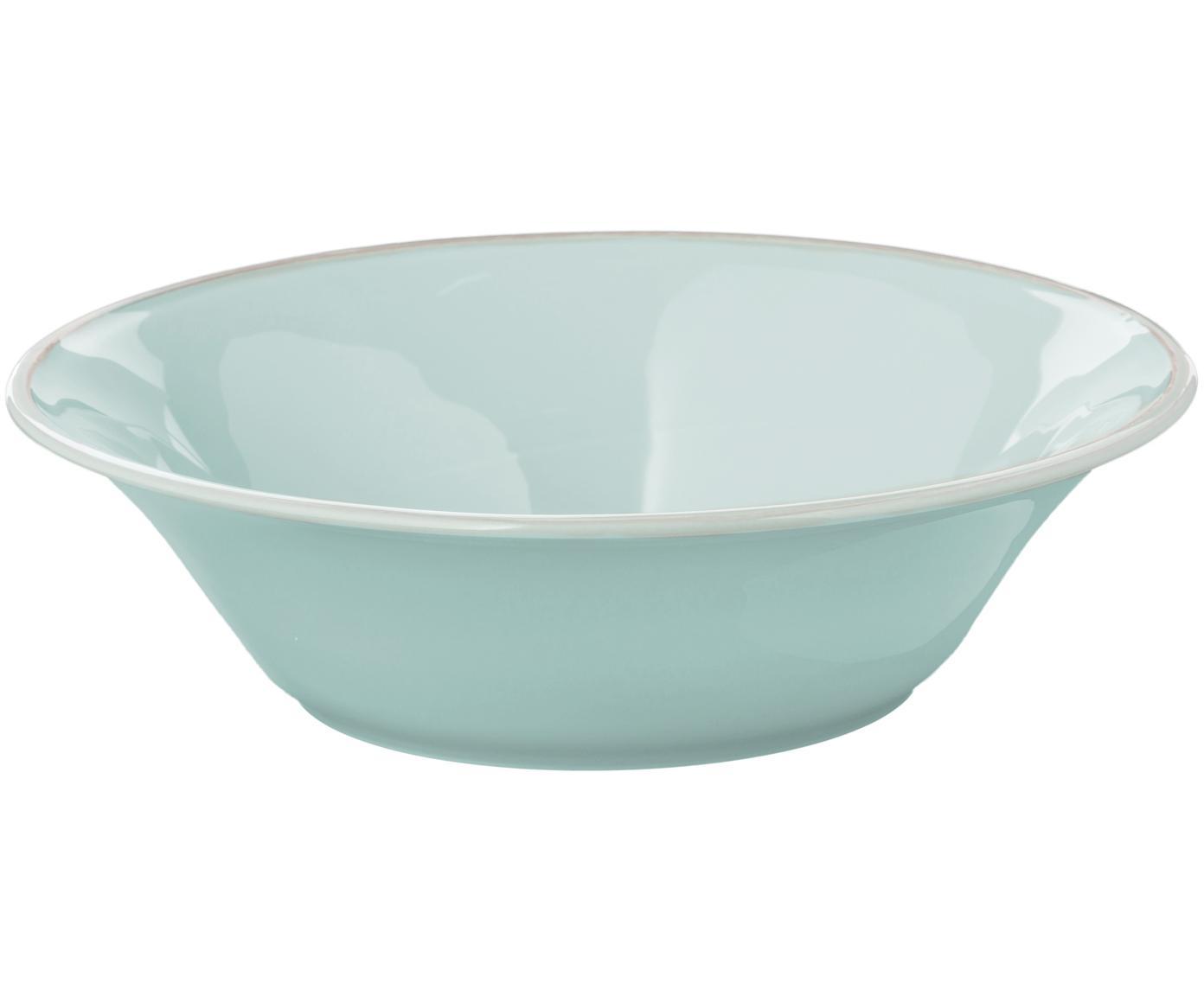 Insalatiera in menta Constance, Ceramica, Verde menta, Ø 30 x A 9 cm